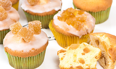 Cupcakes met gember